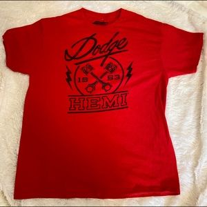 Hybrid Dodge Hemi Red Men's T-Shirt Large